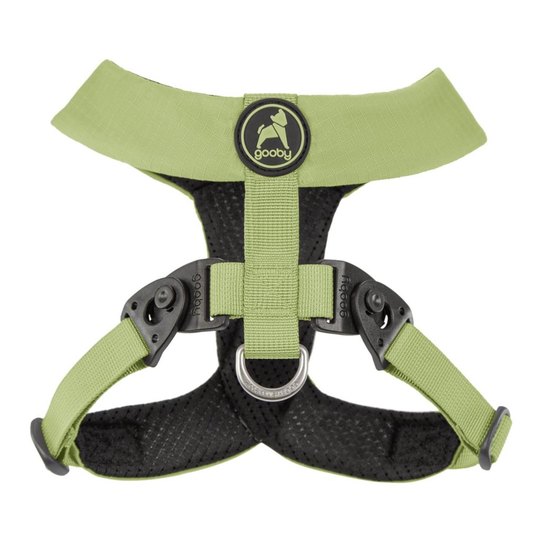 Gooby Comfort X Dual Snap Dog Harness - Green