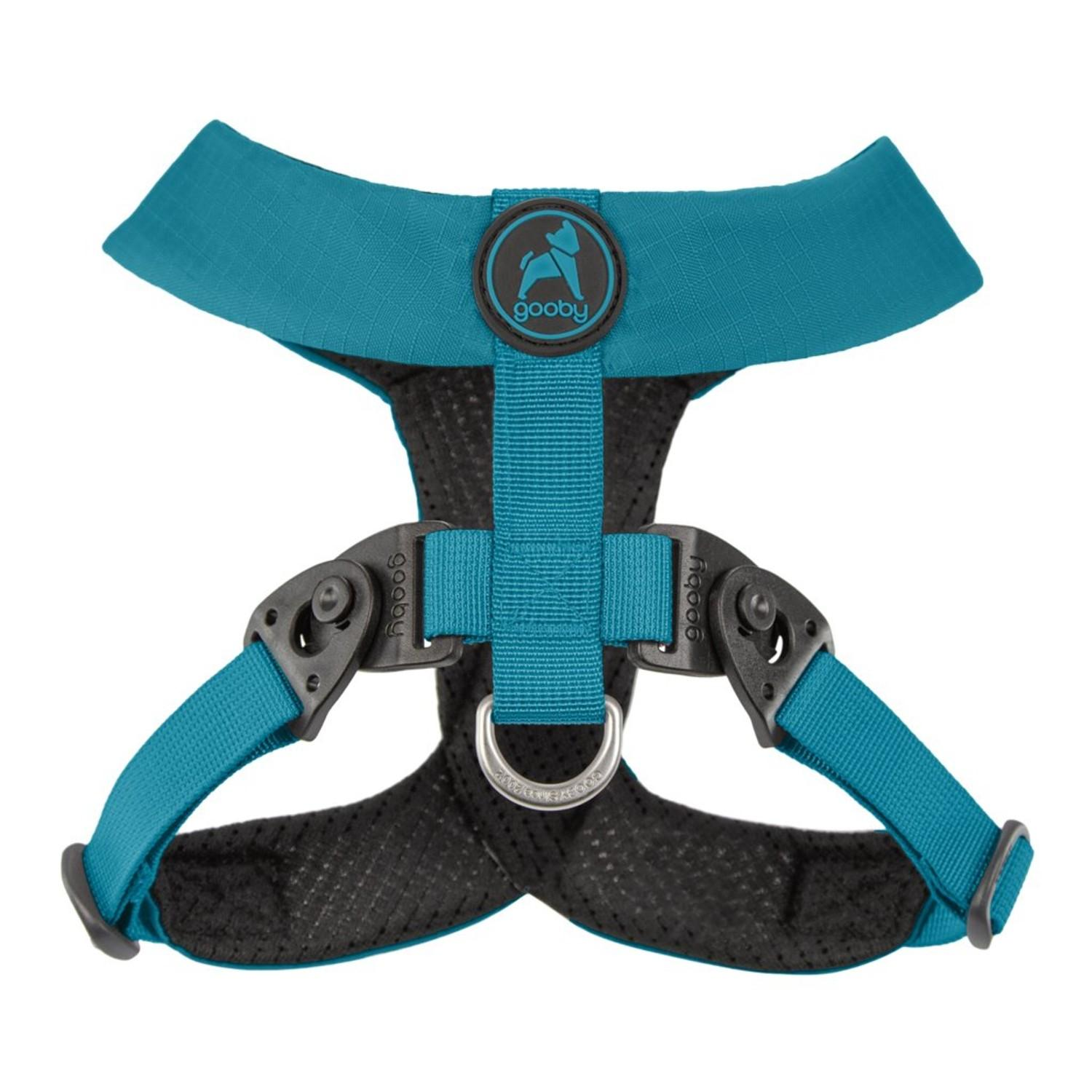 Gooby Comfort X Dual Snap Dog Harness - Turquoise