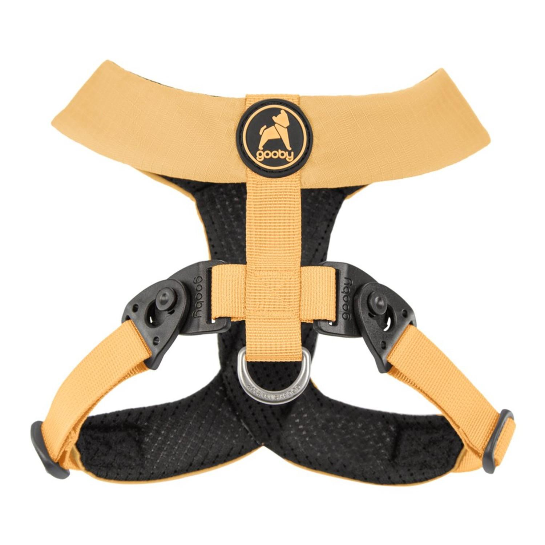 Gooby Comfort X Dual Snap Dog Harness - Yellow