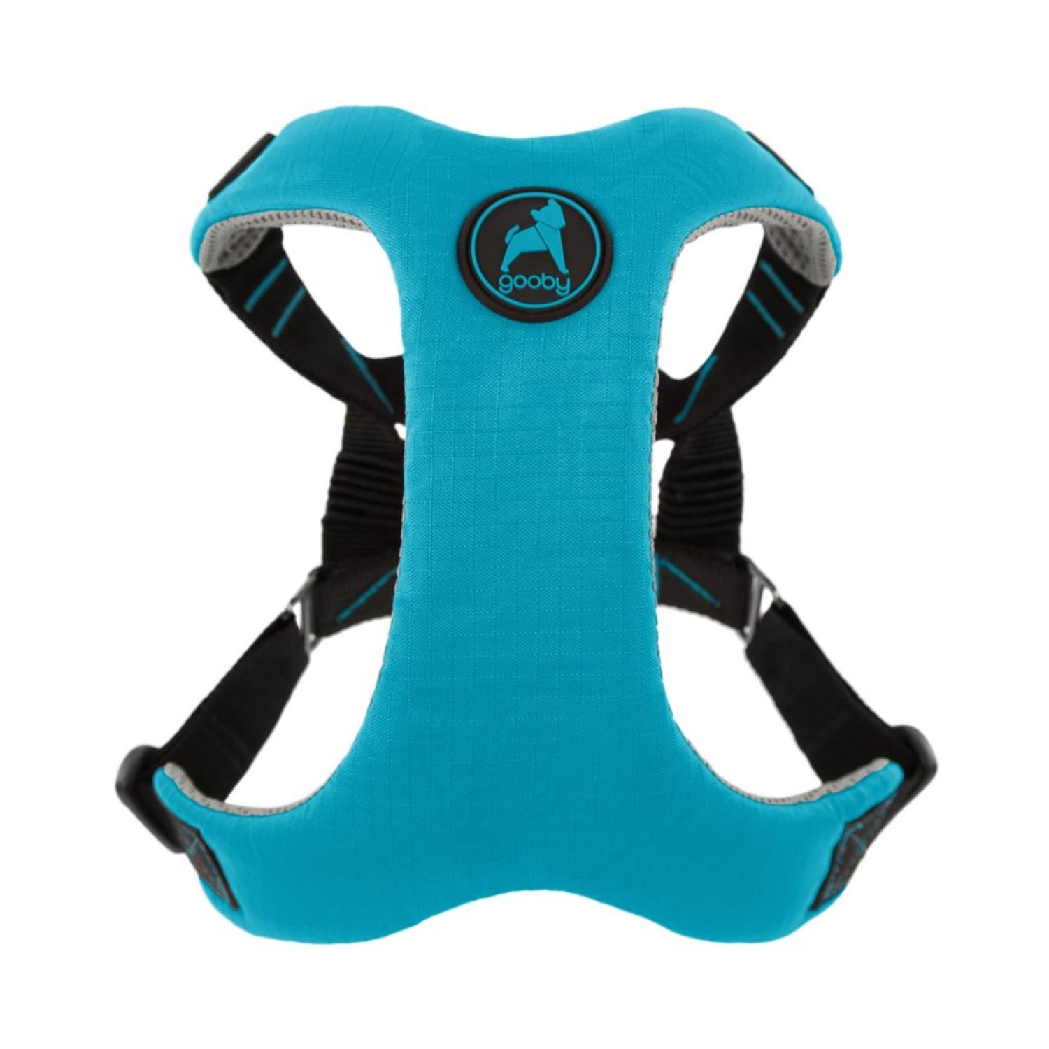 Gooby Convertible Z Dog Harness - Turquoise