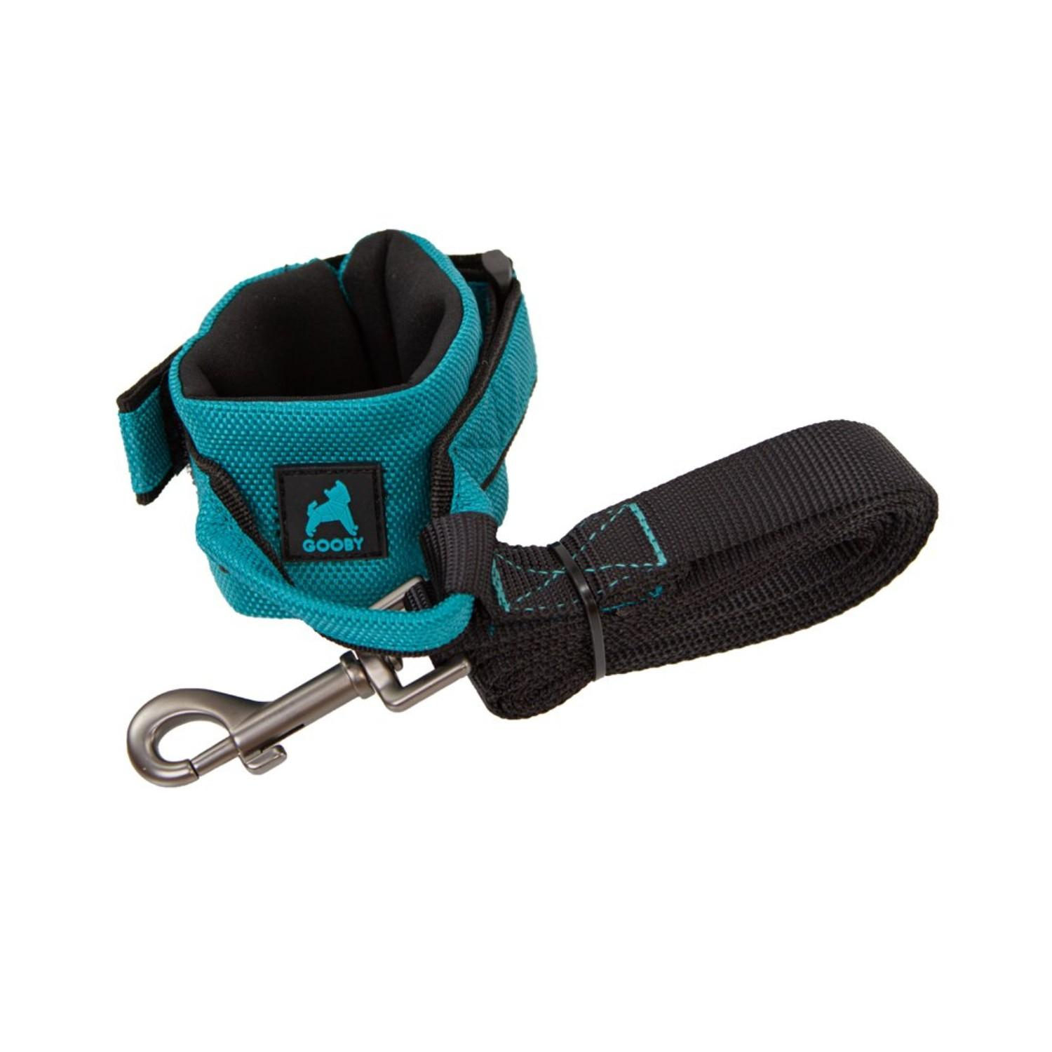 Gooby Easy Fit Wristband Dog Leash - Turquoise