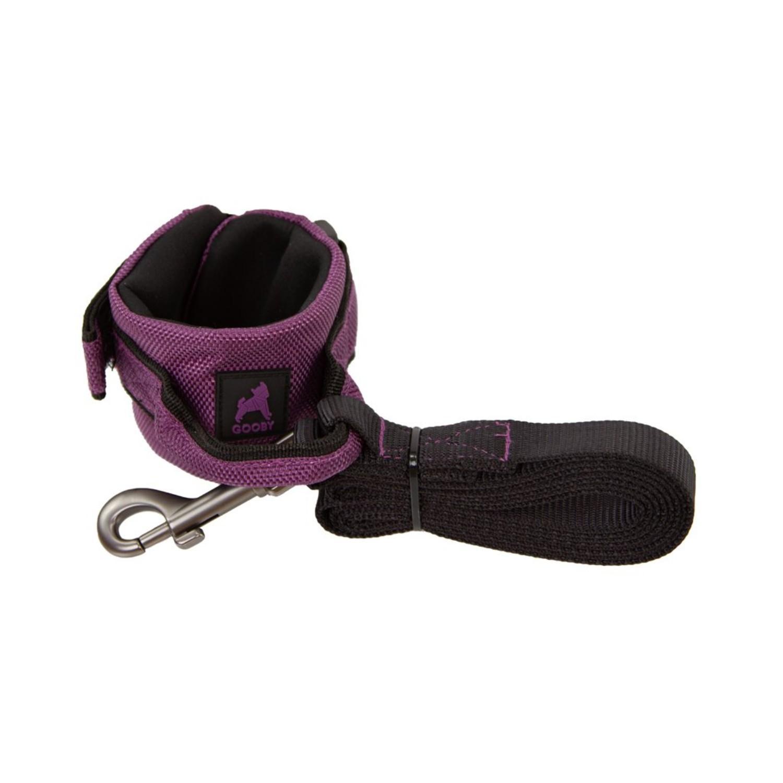 Gooby Easy Fit Wristband Dog Leash - Purple