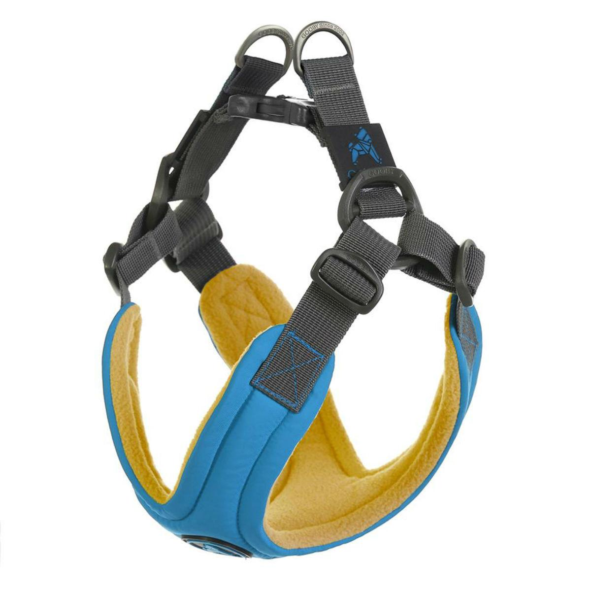 Gooby Escape Free Memory Foam Dog Harness - Blue