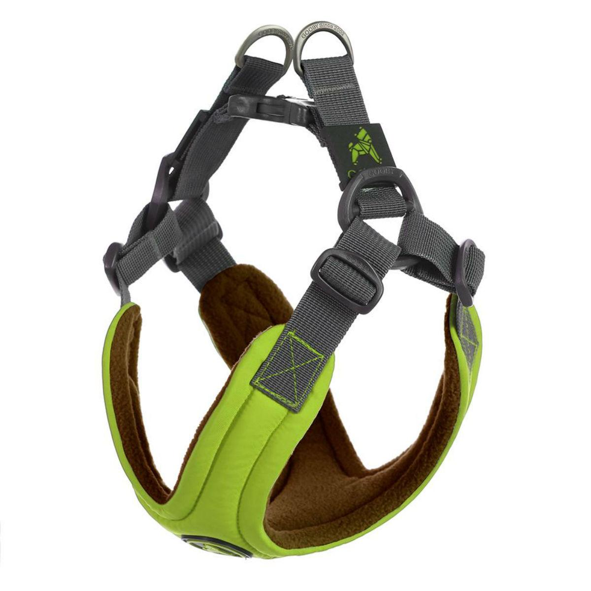 Gooby Escape Free Memory Foam Dog Harness - Green
