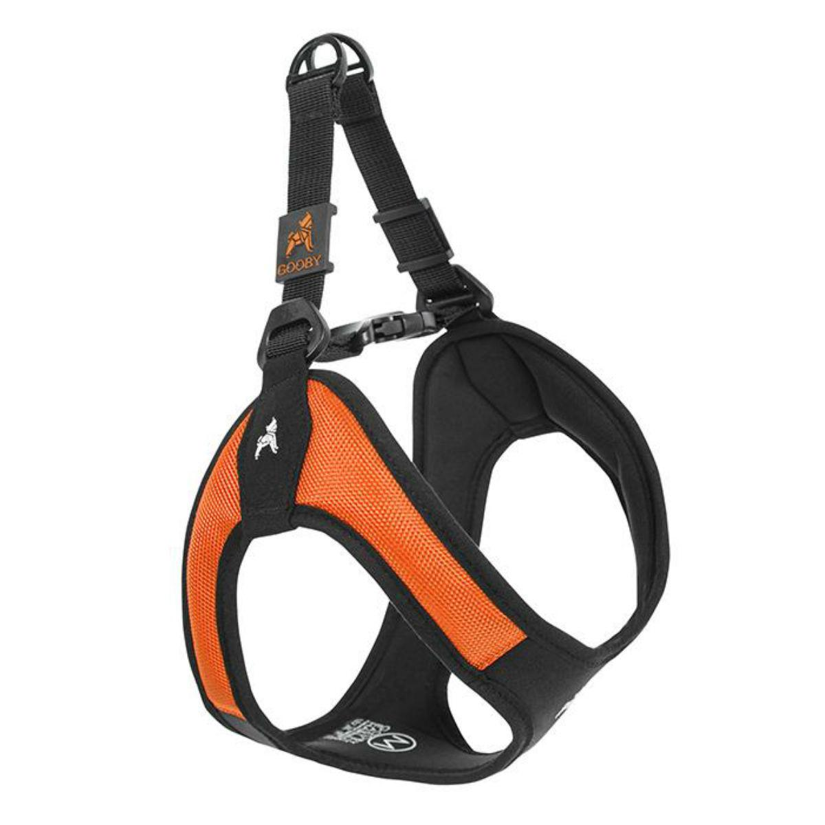 Gooby Escape Proof Easy Fit Dog Harness - Orange