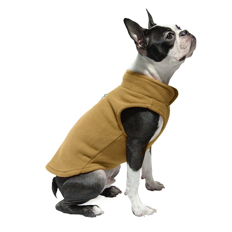 Gooby Fleece Dog Vest - Clay