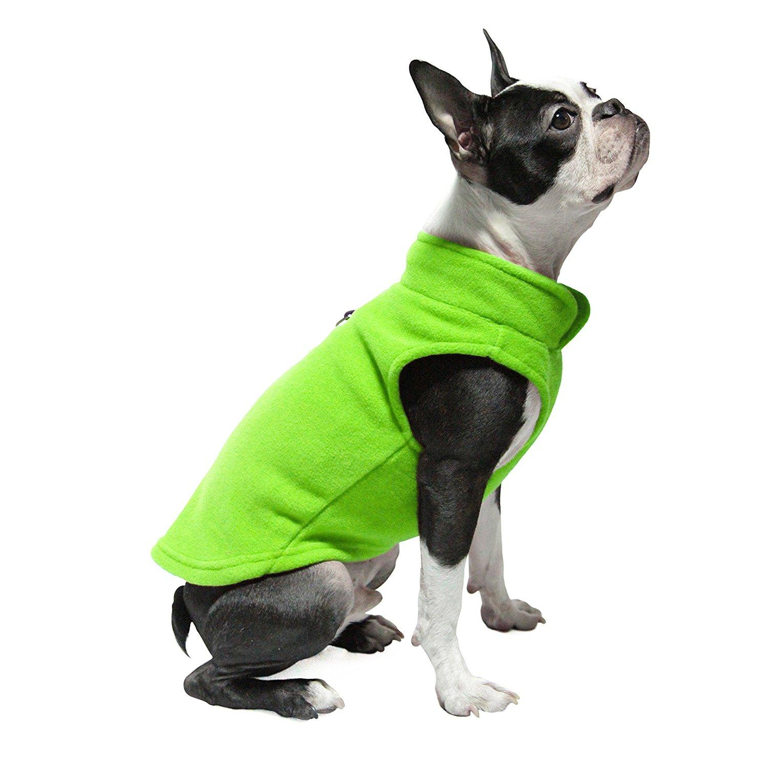 Gooby Fleece Dog Vest - Lime
