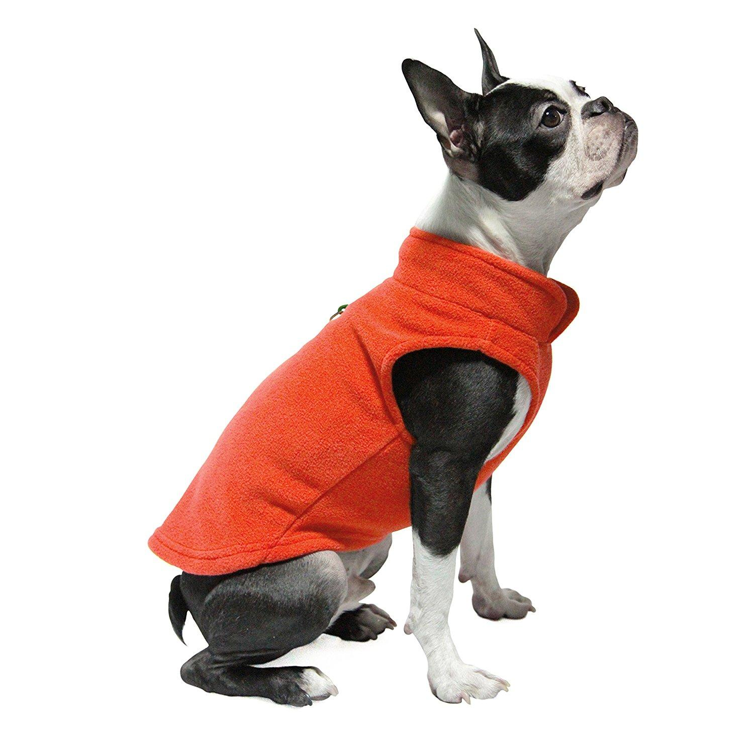 Gooby Fleece Dog Vest - Pumpkin