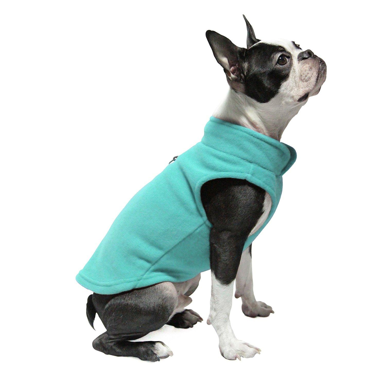 Gooby Fleece Dog Vest - Turquoise