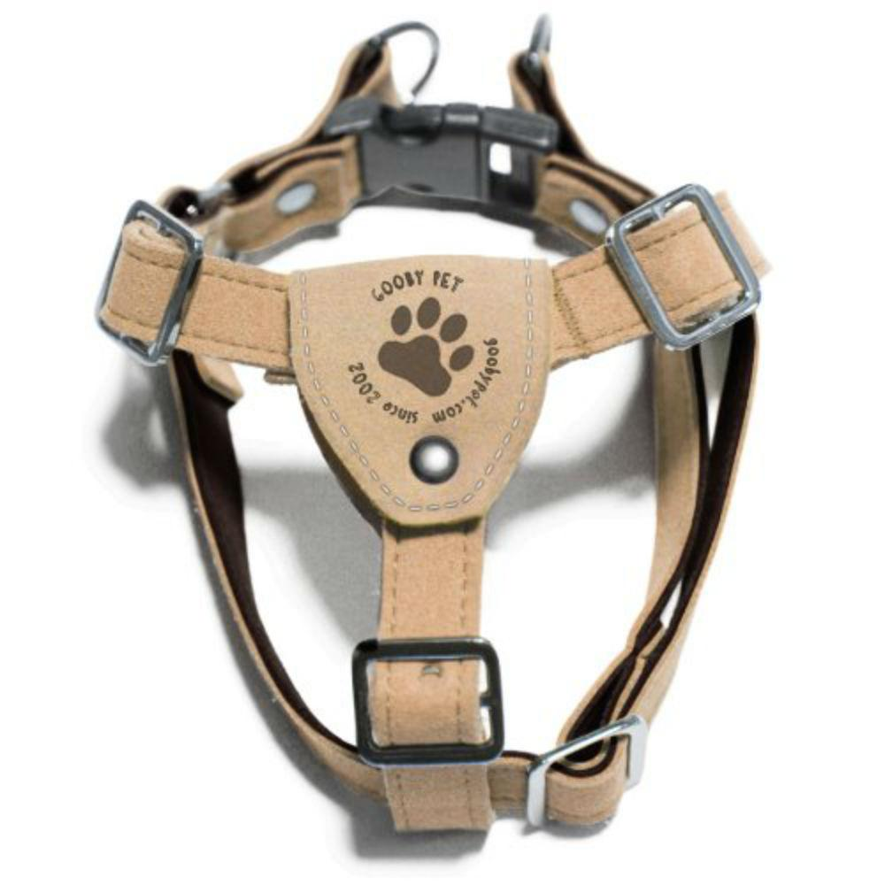 Gooby Luxury Step-In Dog Harness - Tan