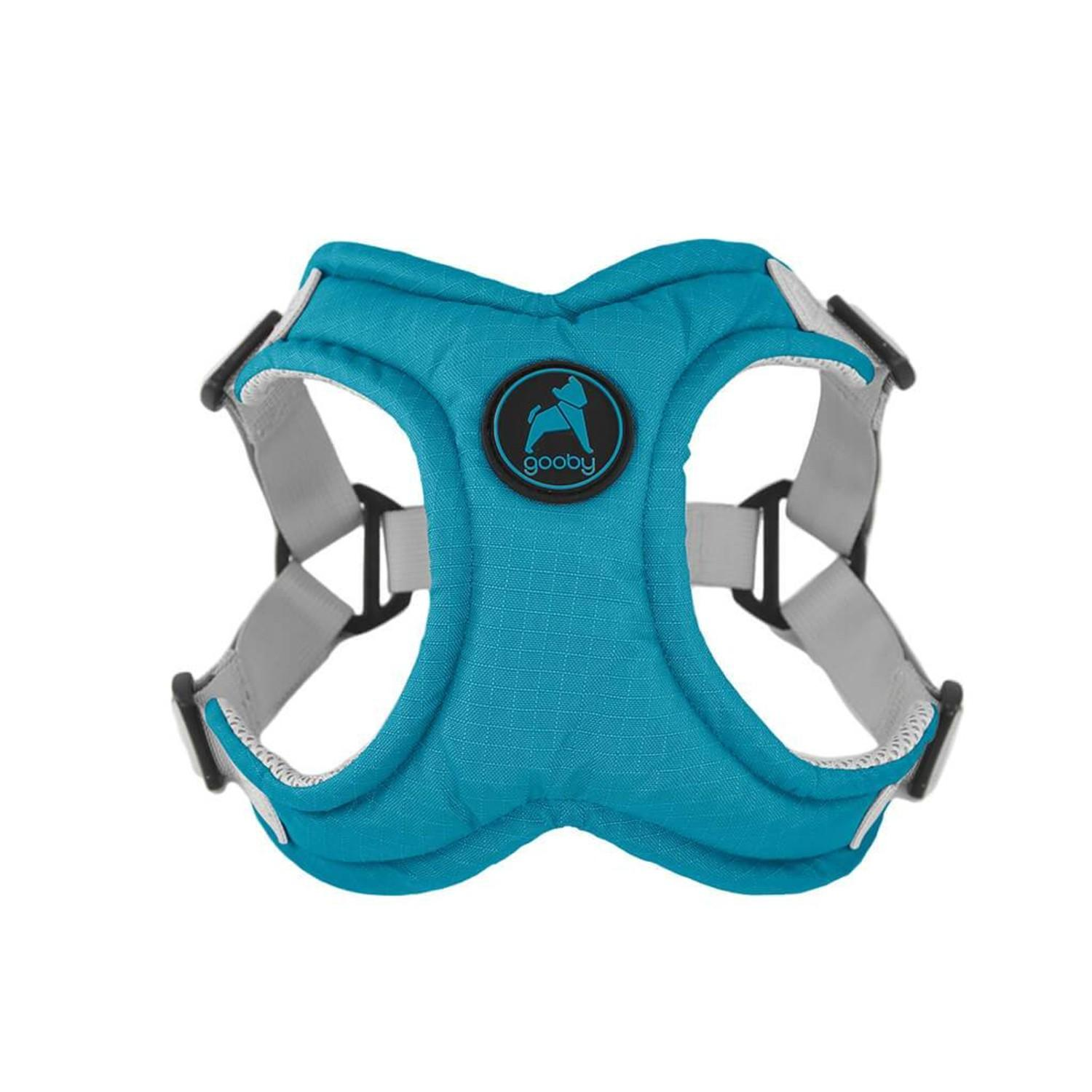 Gooby Memory Foam Step-in Dog Harness - Turquoise