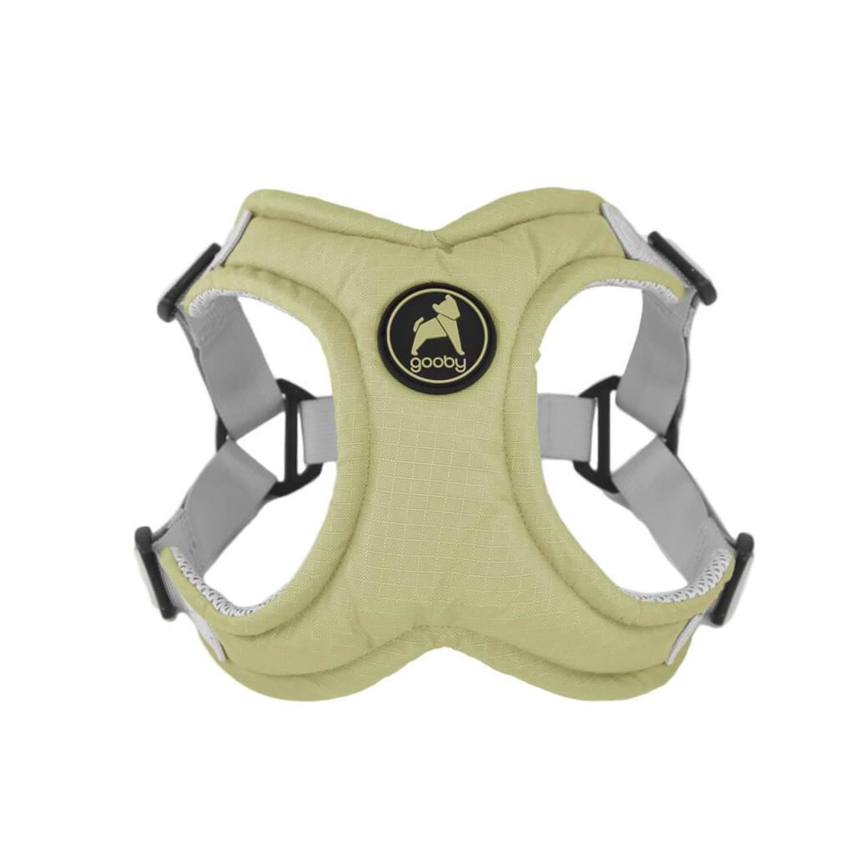 Gooby Memory Foam Step-in Dog Harness - Green