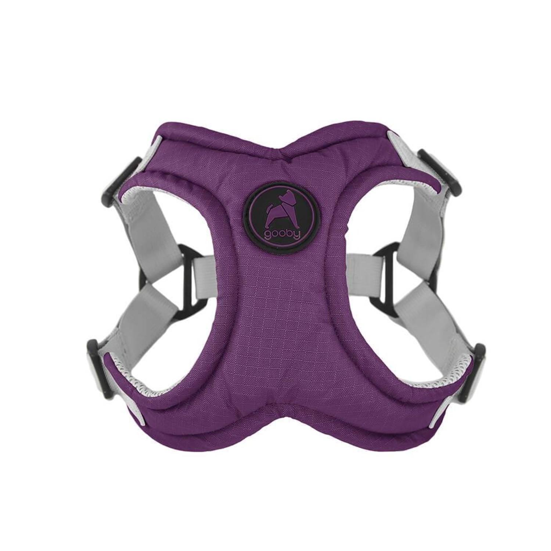 Gooby Memory Foam Step-in Dog Harness - Purple