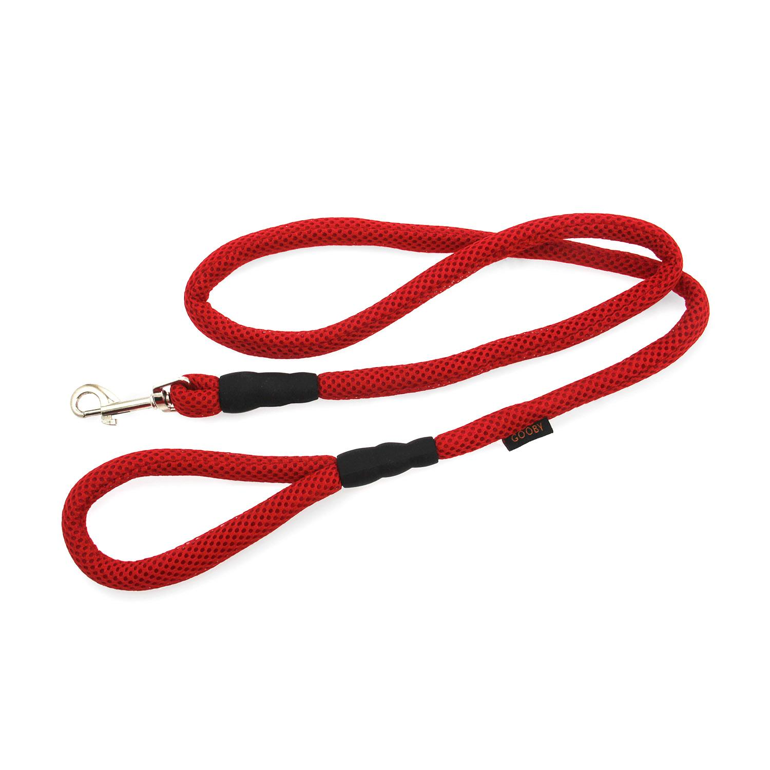 Gooby Mesh Fabric Dog Leash - Red