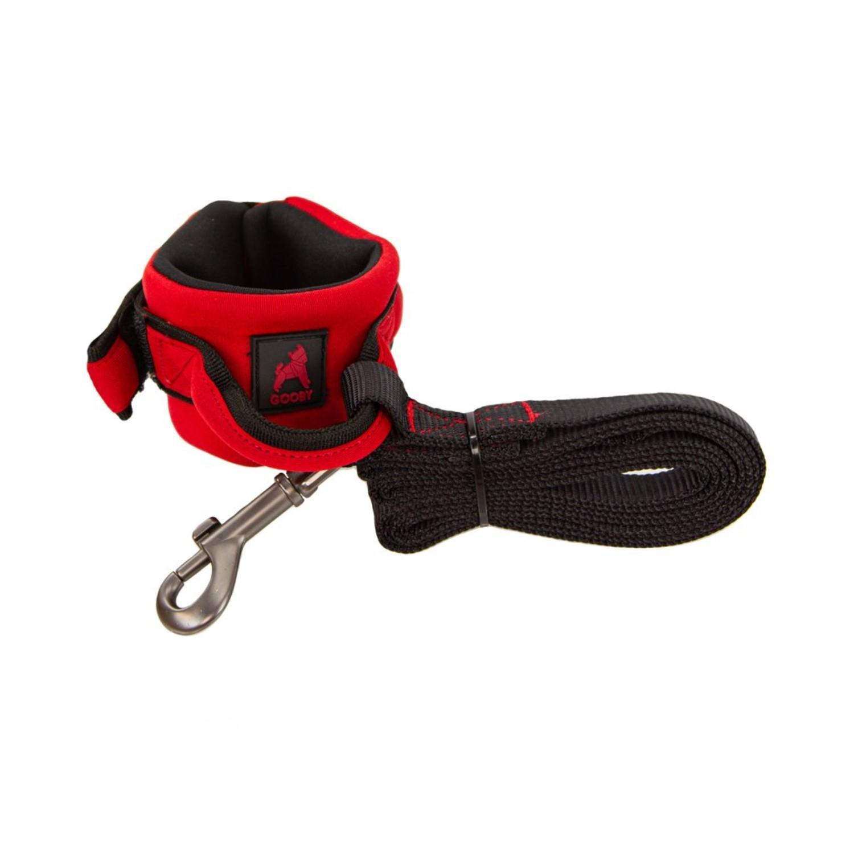 Gooby Neoprene Wristband Dog Leash - Red