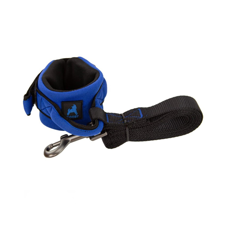 Gooby Neoprene Wristband Dog Leash - Blue