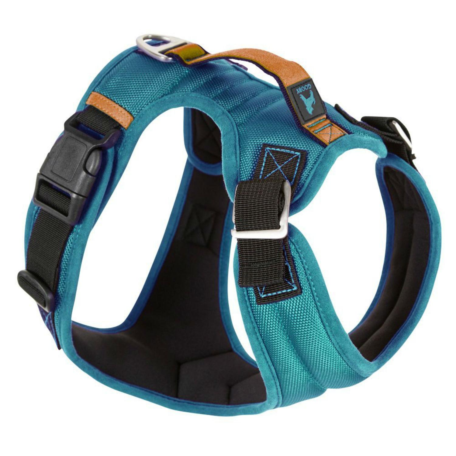 Gooby Pioneer Dog Harness - Turquoise