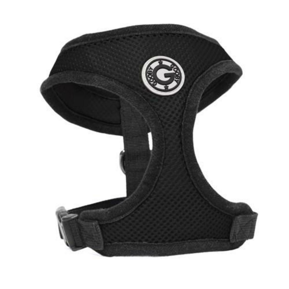 Gooby Soft Mesh Dog Harness - Black