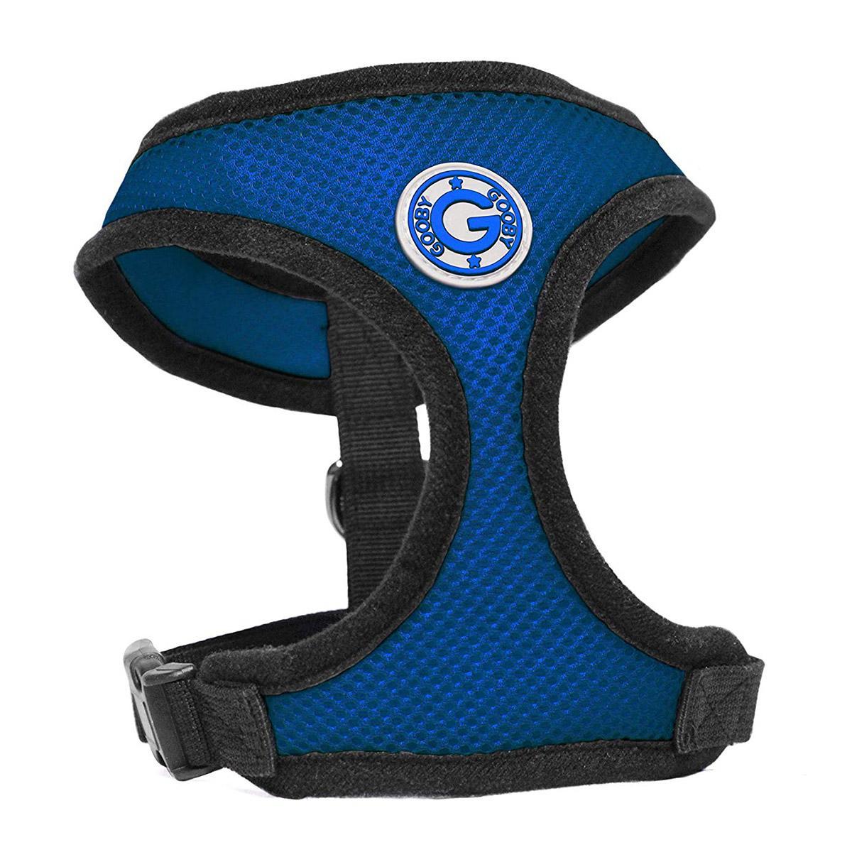 Gooby Soft Mesh Dog Harness - Blue