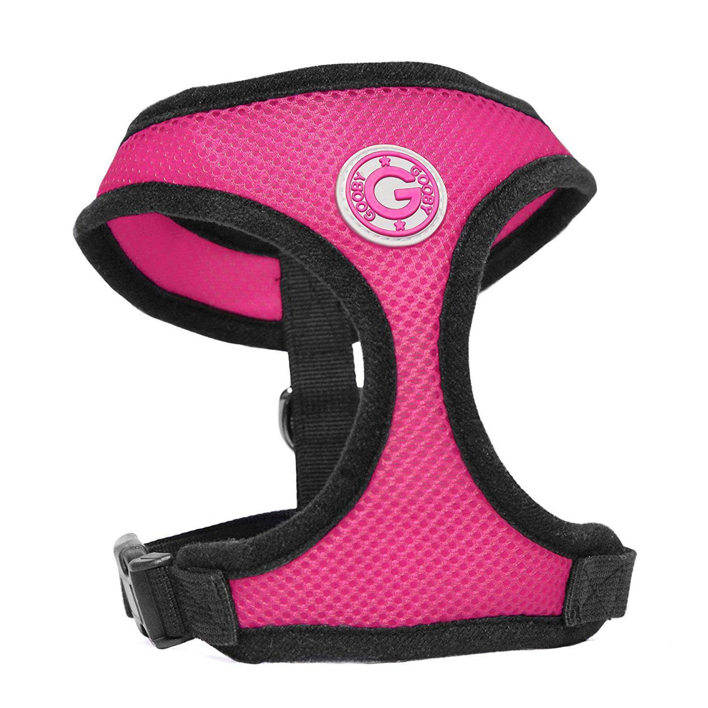 Gooby Soft Mesh Dog Harness - Flamingo Pink