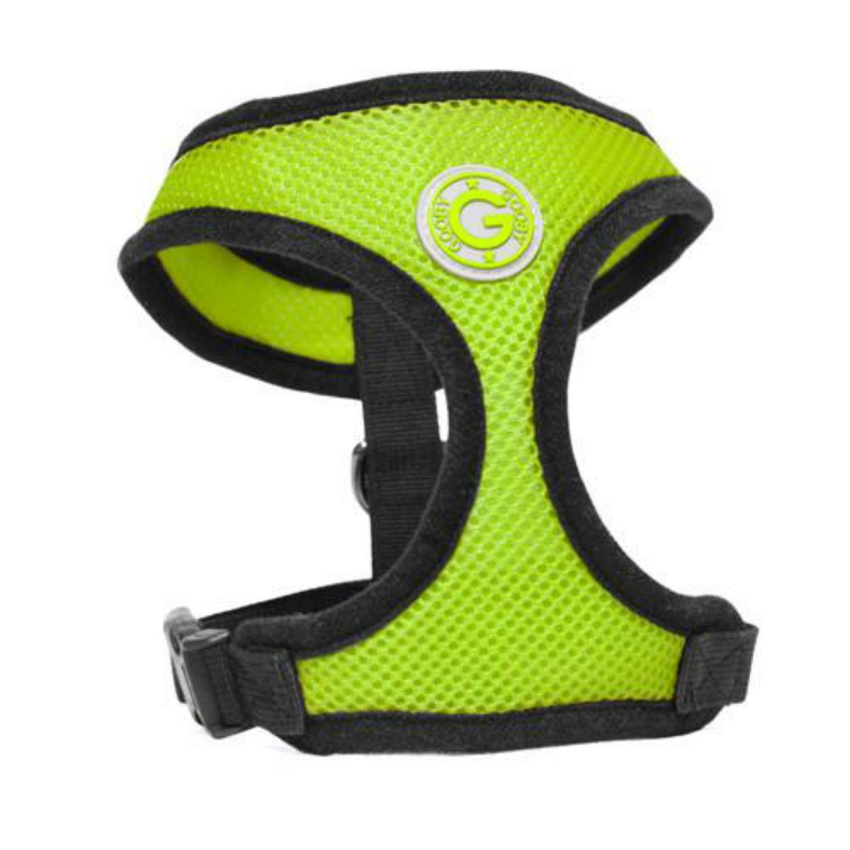 Gooby Soft Mesh Dog Harness - Green