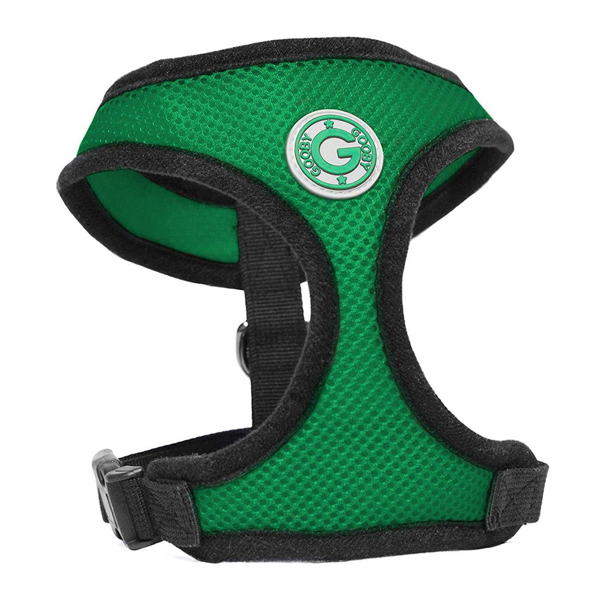 Gooby Soft Mesh Dog Harness - Hunter Green