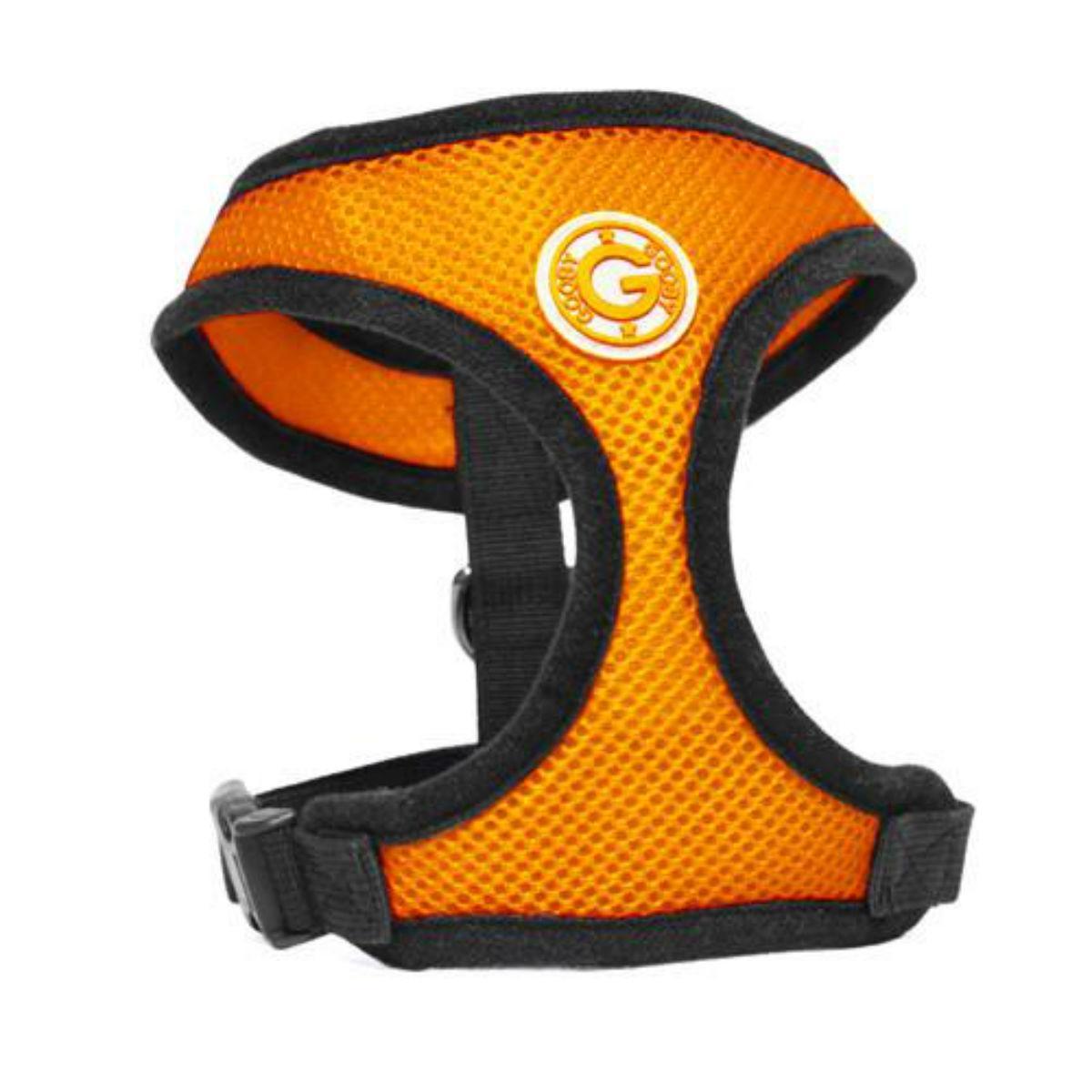 Gooby Soft Mesh Dog Harness - Orange