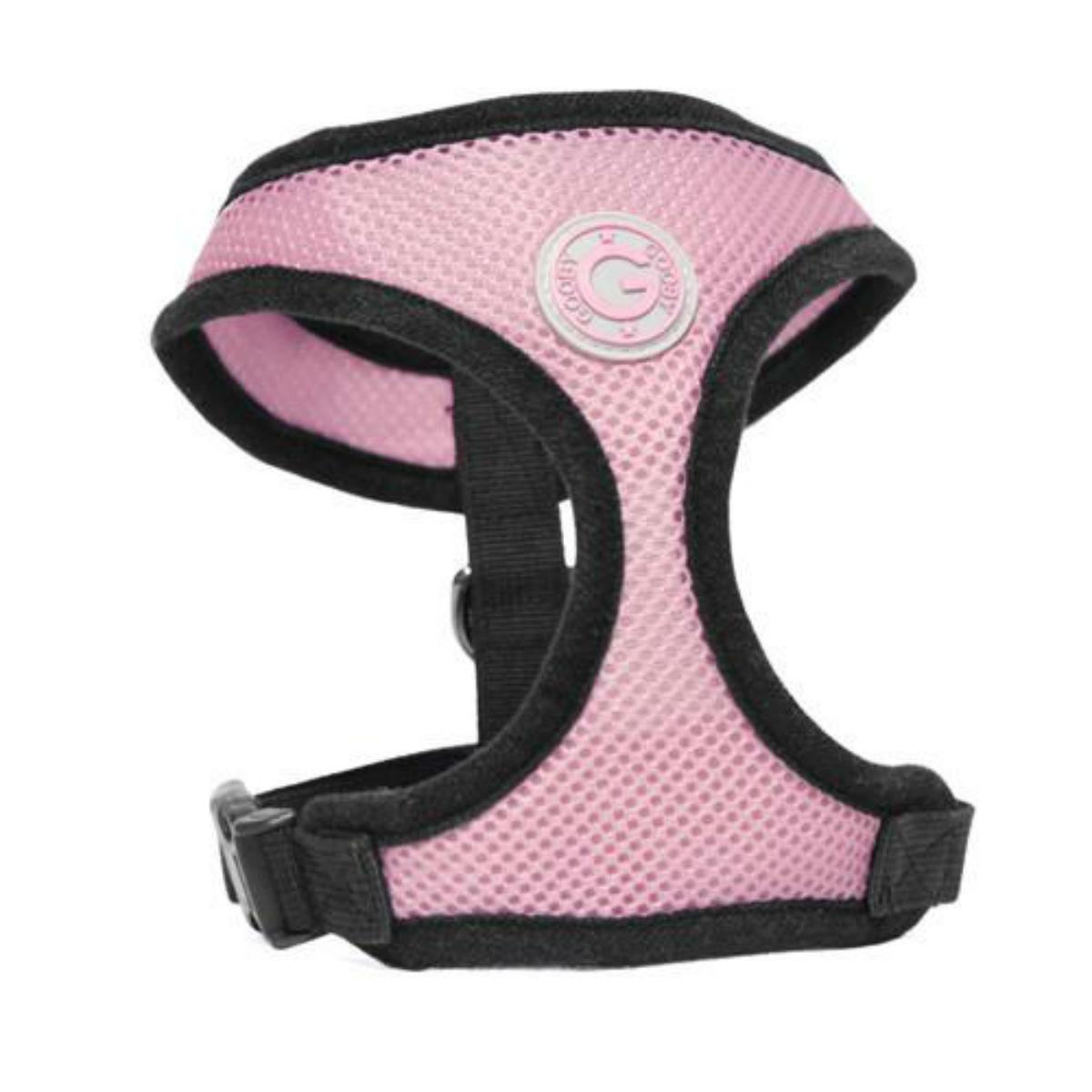 Gooby Soft Mesh Dog Harness - Pink
