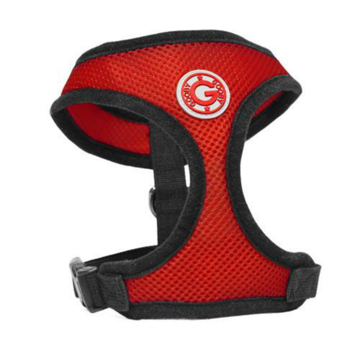 Gooby Soft Mesh Dog Harness - Red