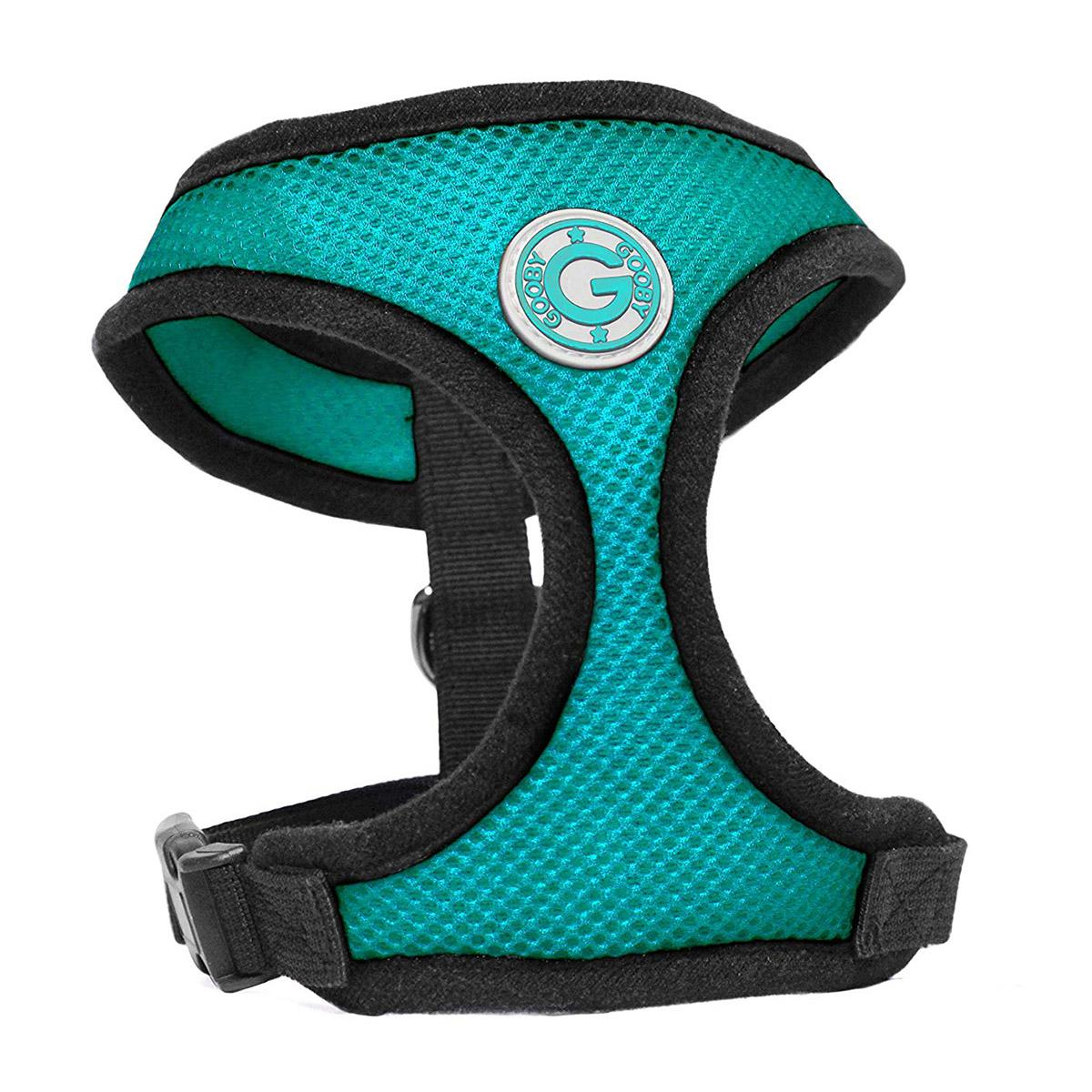 Gooby Soft Mesh Dog Harness - Turquoise