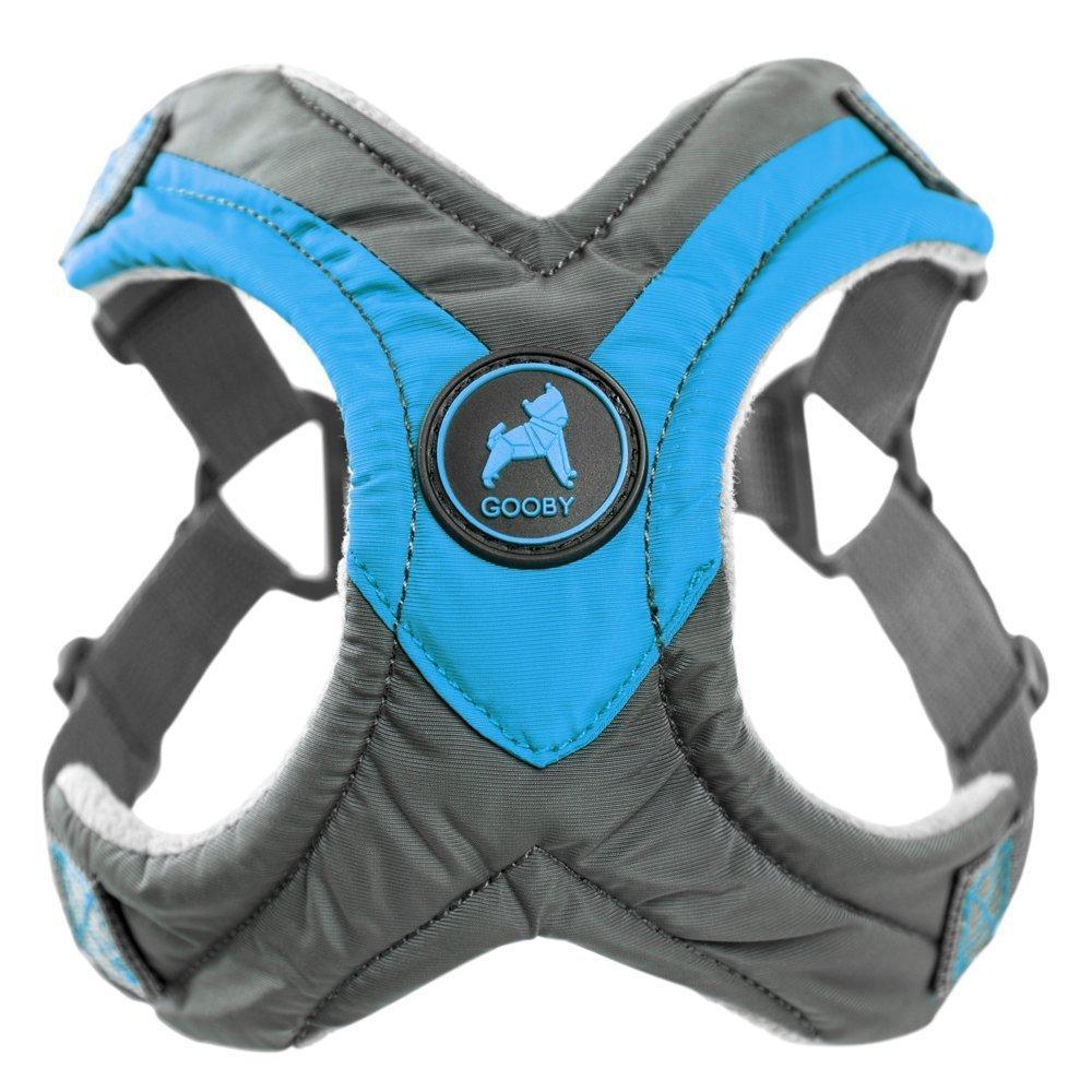 Gooby Trekking Step-in Memory Foam Dog Harness - Ocean Blue