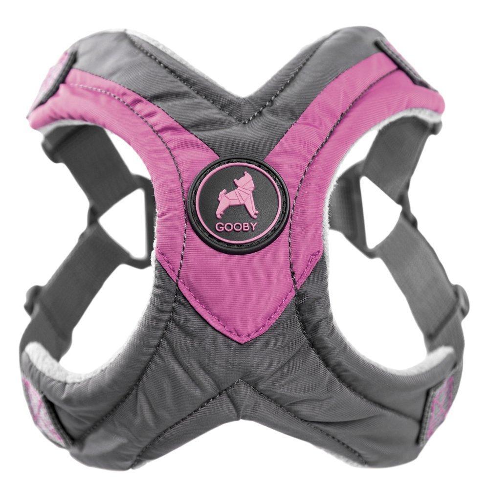 Gooby Trekking Step-in Memory Foam Dog Harness - Purple