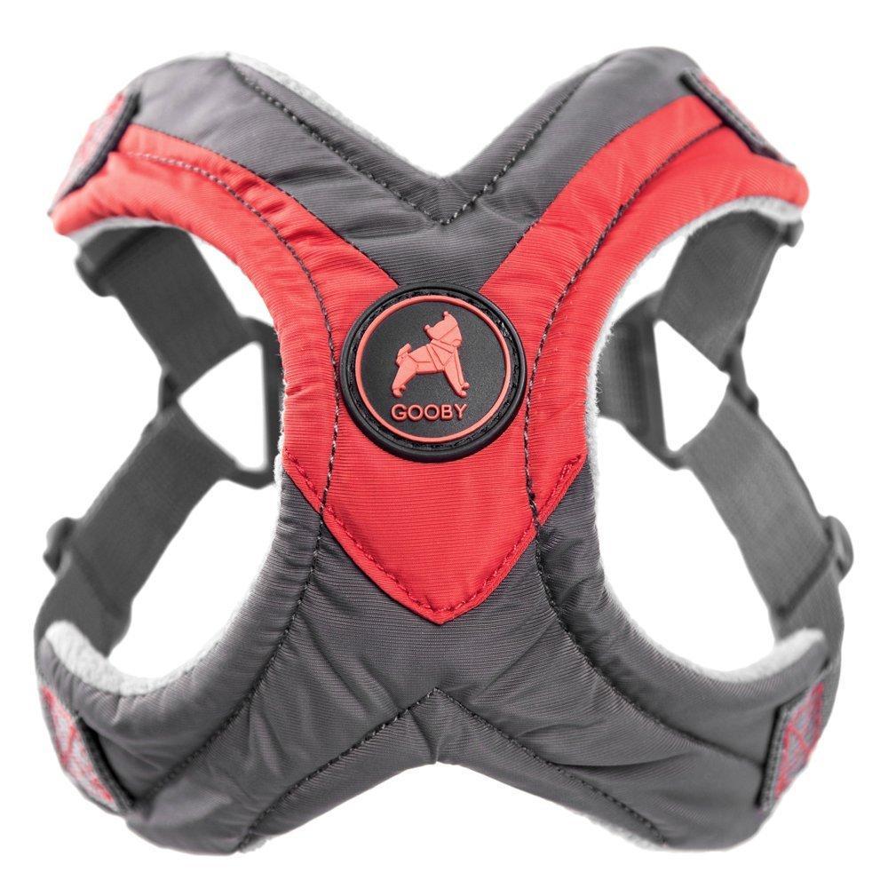 Gooby Trekking Step-in Memory Foam Dog Harness - Red