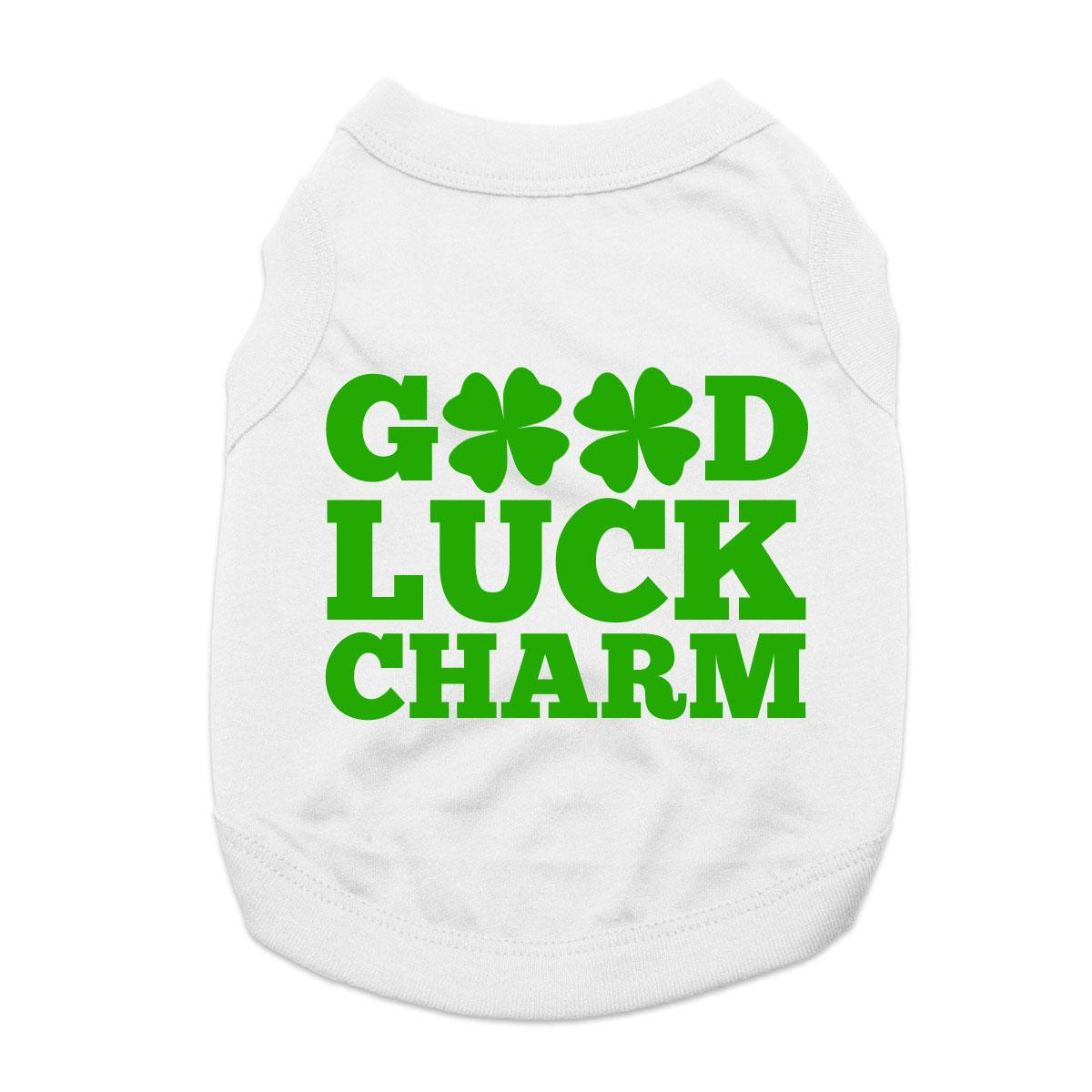 Good Luck Charm Dog Shirt - White