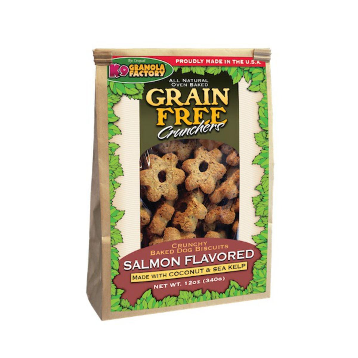 K9 Granola Factory Grain Free Crunchers Dog Treat - Atlantic Salmon with Coconut & Sea Kelp
