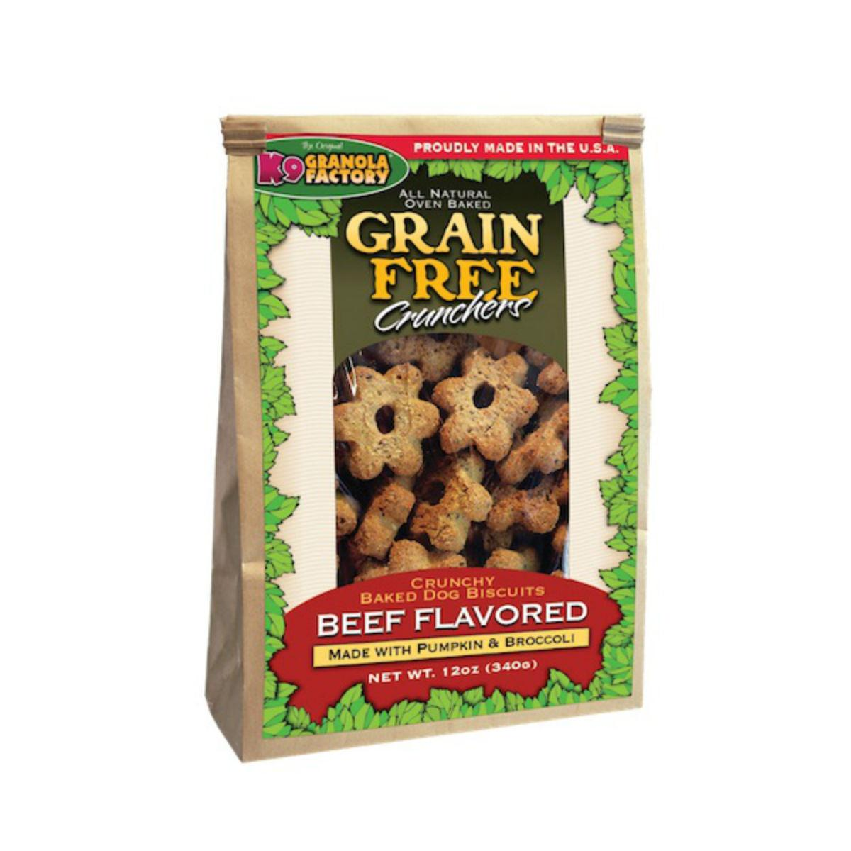 K9 Granola Factory Grain Free Crunchers Dog Treat - Dried Beef with Pumpkin & Broccoli