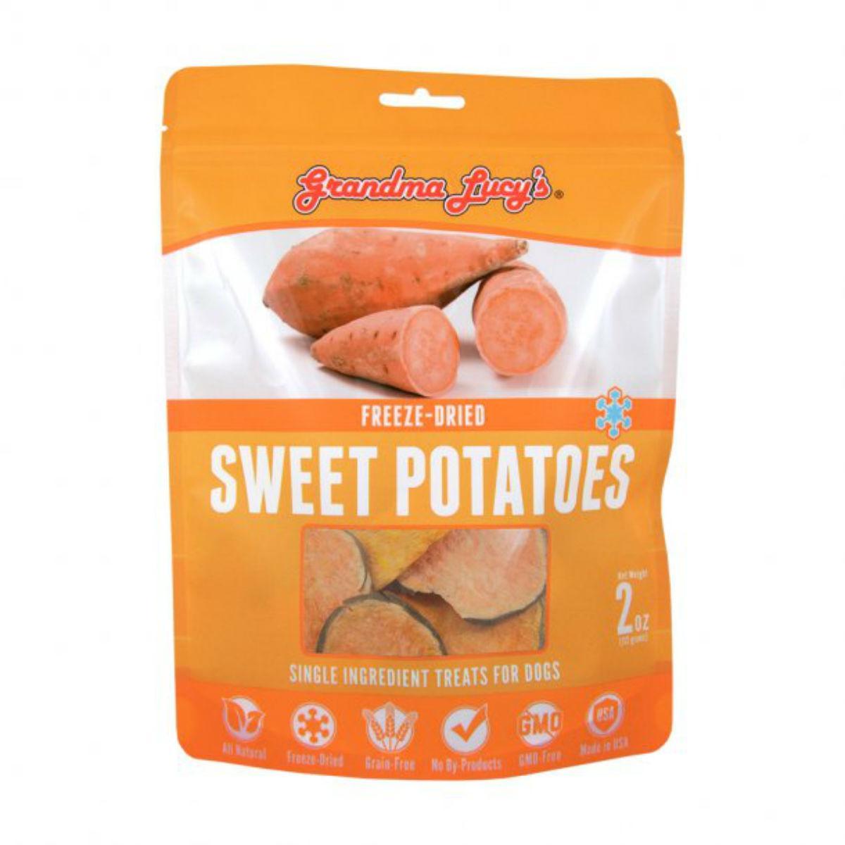 Grandma Lucy's Singles Freeze Dried Sweet Potatoes Cat & Dog Treat