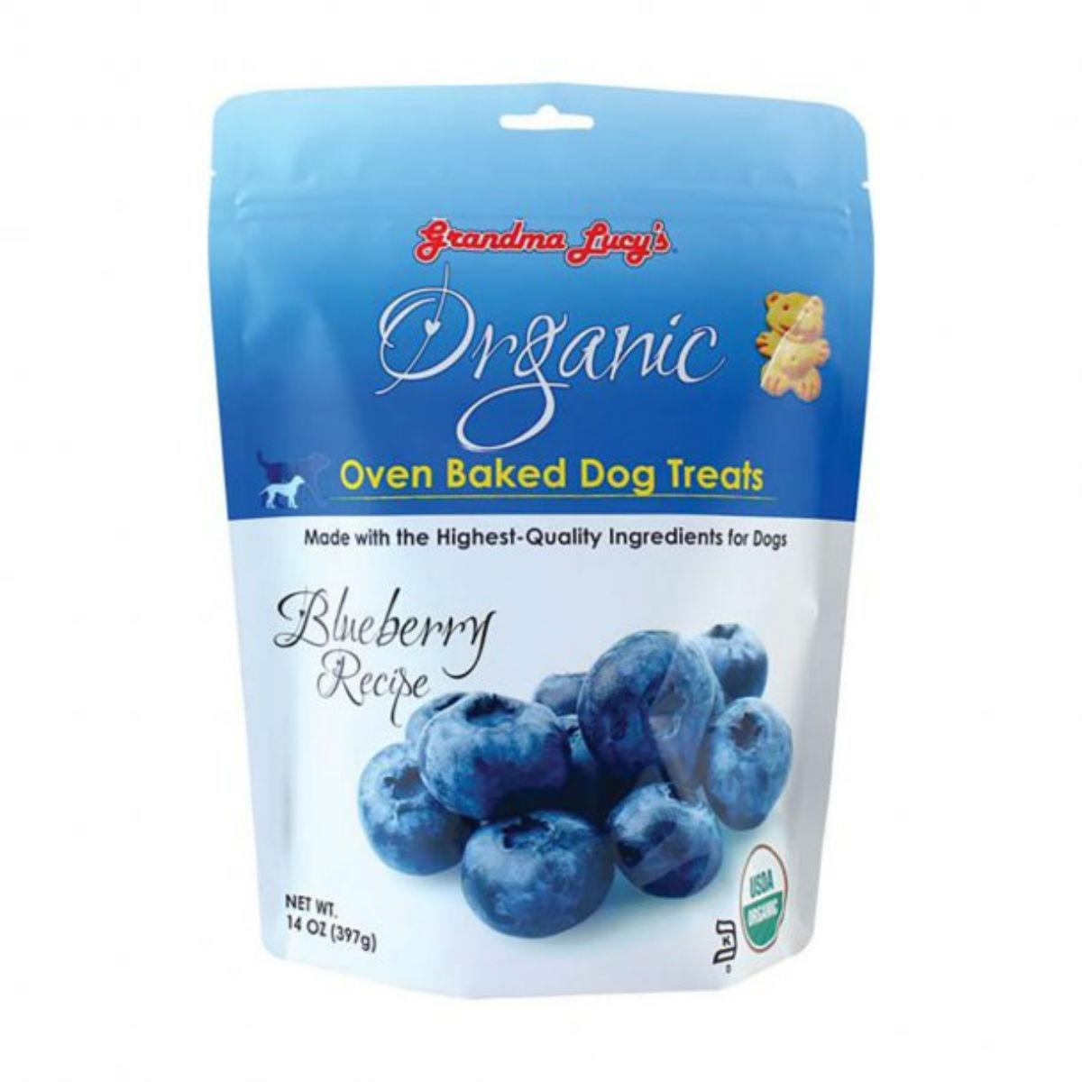 Grandma Lucy's Organic Oven Baked Dog Treat - Blueberry