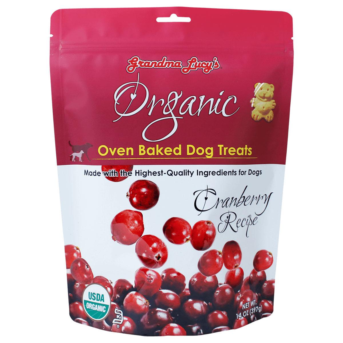 Grandma Lucy's Organic Oven Baked Dog Treat - Cranberry