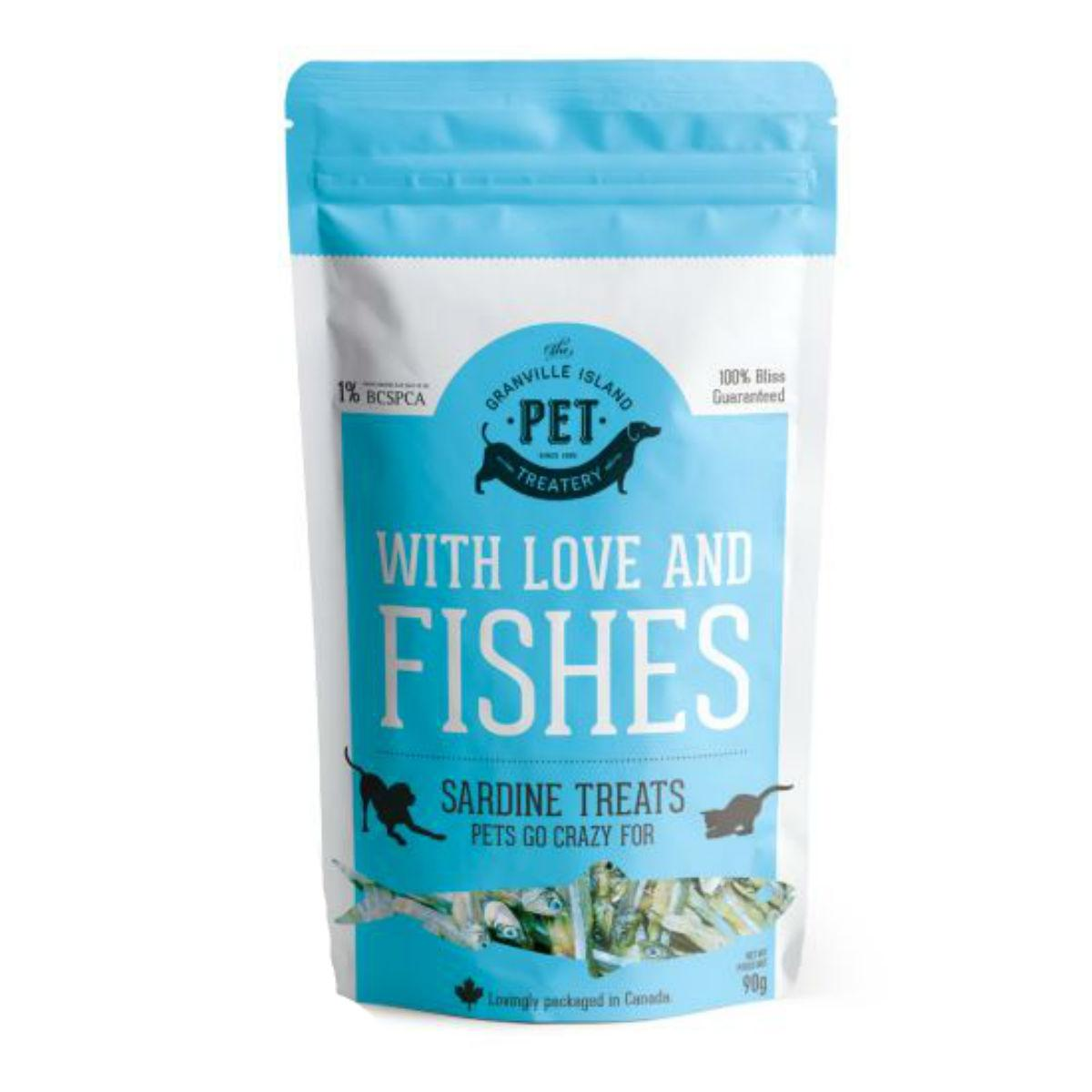 Granville Pure Protein Sardine Pet Treat - With Love and Fishes