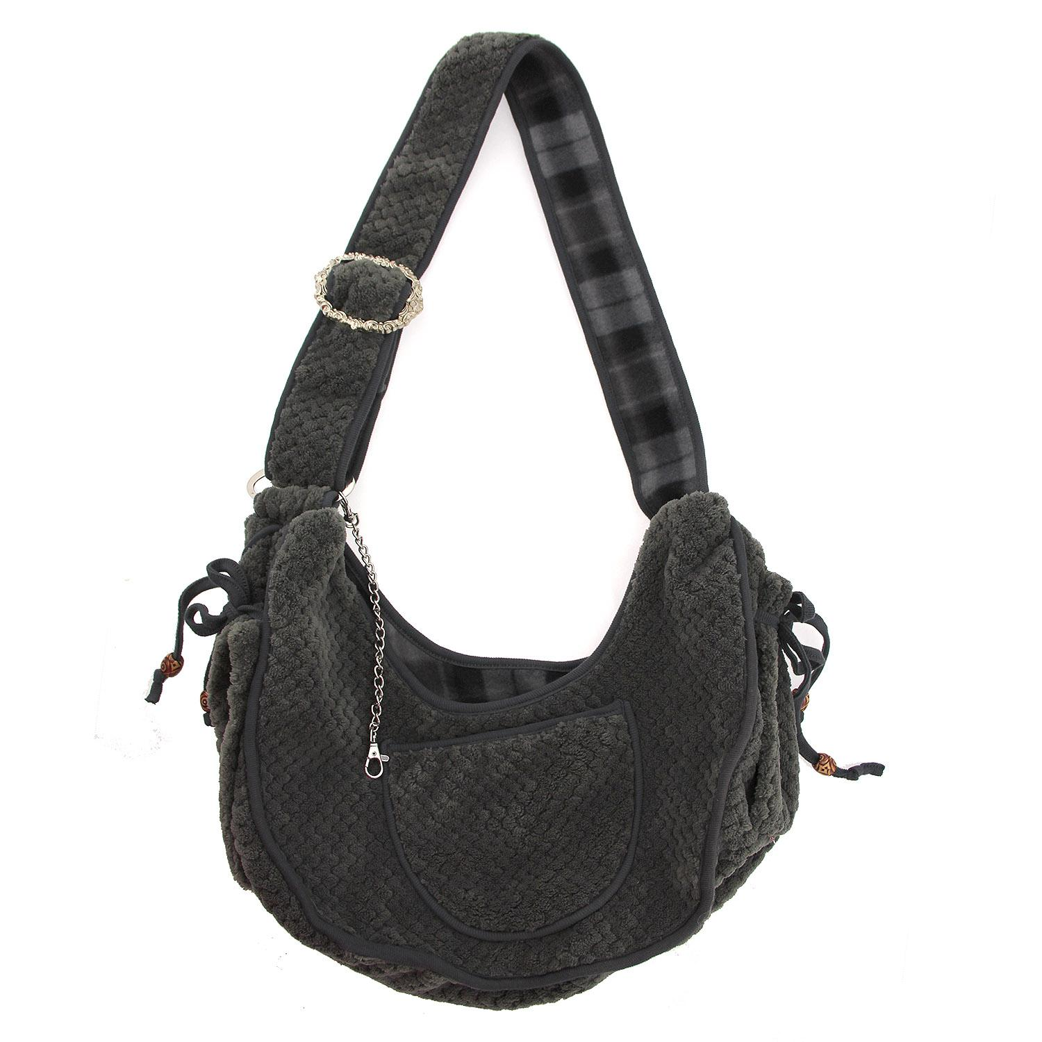 Gray Puppy Pouch Pet Sling