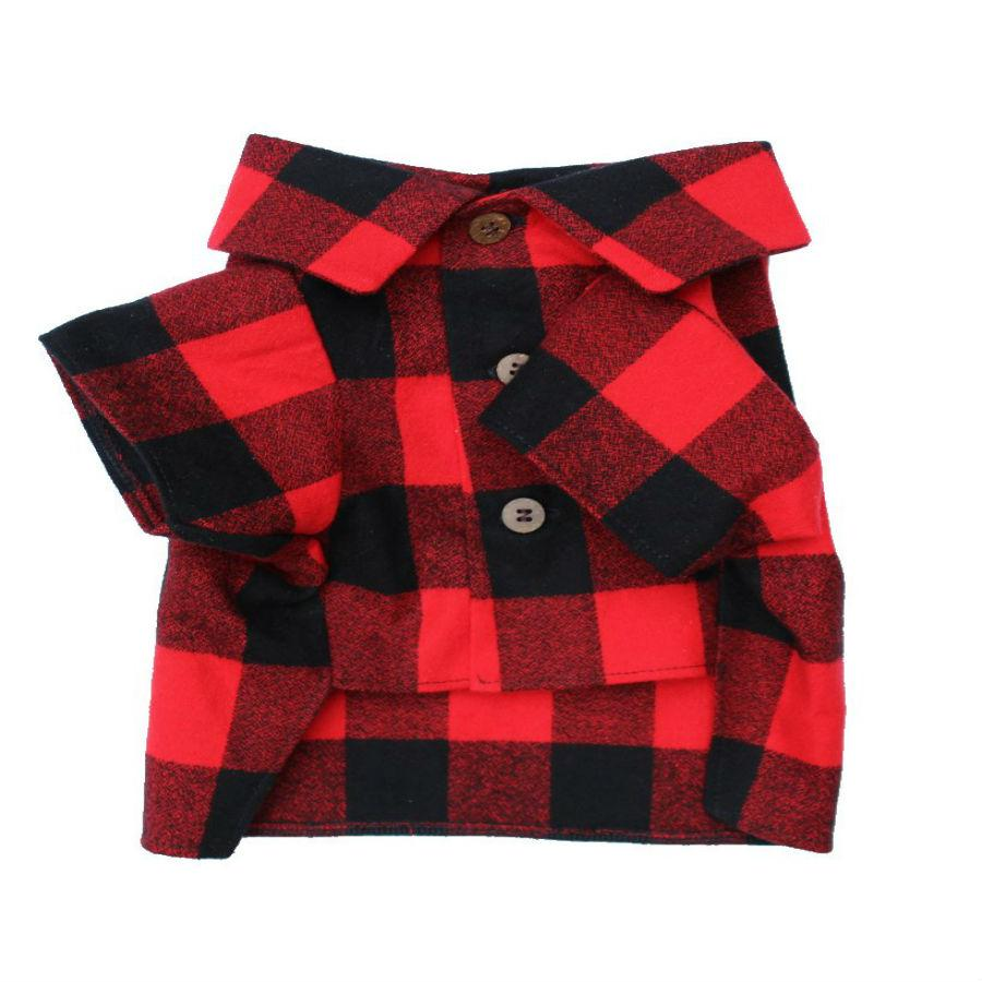 Great Plains Flannel Dog Shirt By Dog Threads