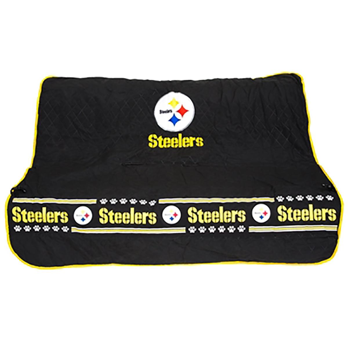 pittsburgh steelers dog car seat cover with same day shipping baxterboo. Black Bedroom Furniture Sets. Home Design Ideas