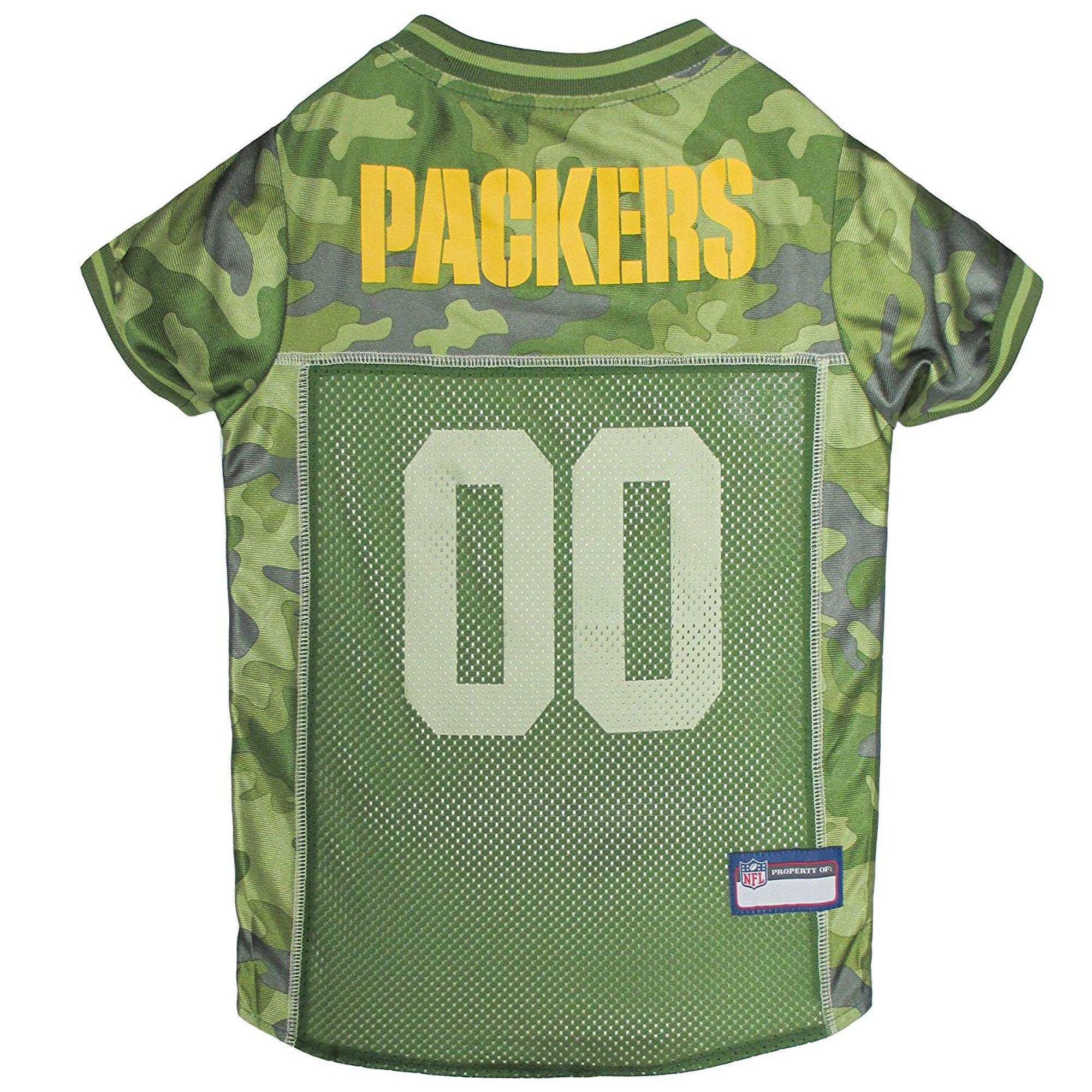 new styles 8e155 f76c7 Green Bay Packers Dog Jersey - Camo