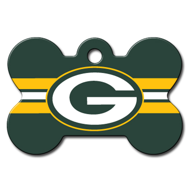 Green Bay Packers Engravable Pet I.D. Tag - Bone