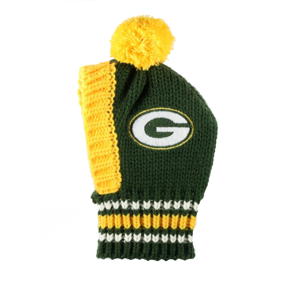 dc650e93 Green Bay Packers Knit Dog Hat | BaxterBoo