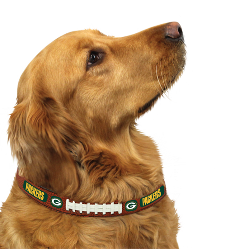 Green Bay Packers Leather Dog Collar