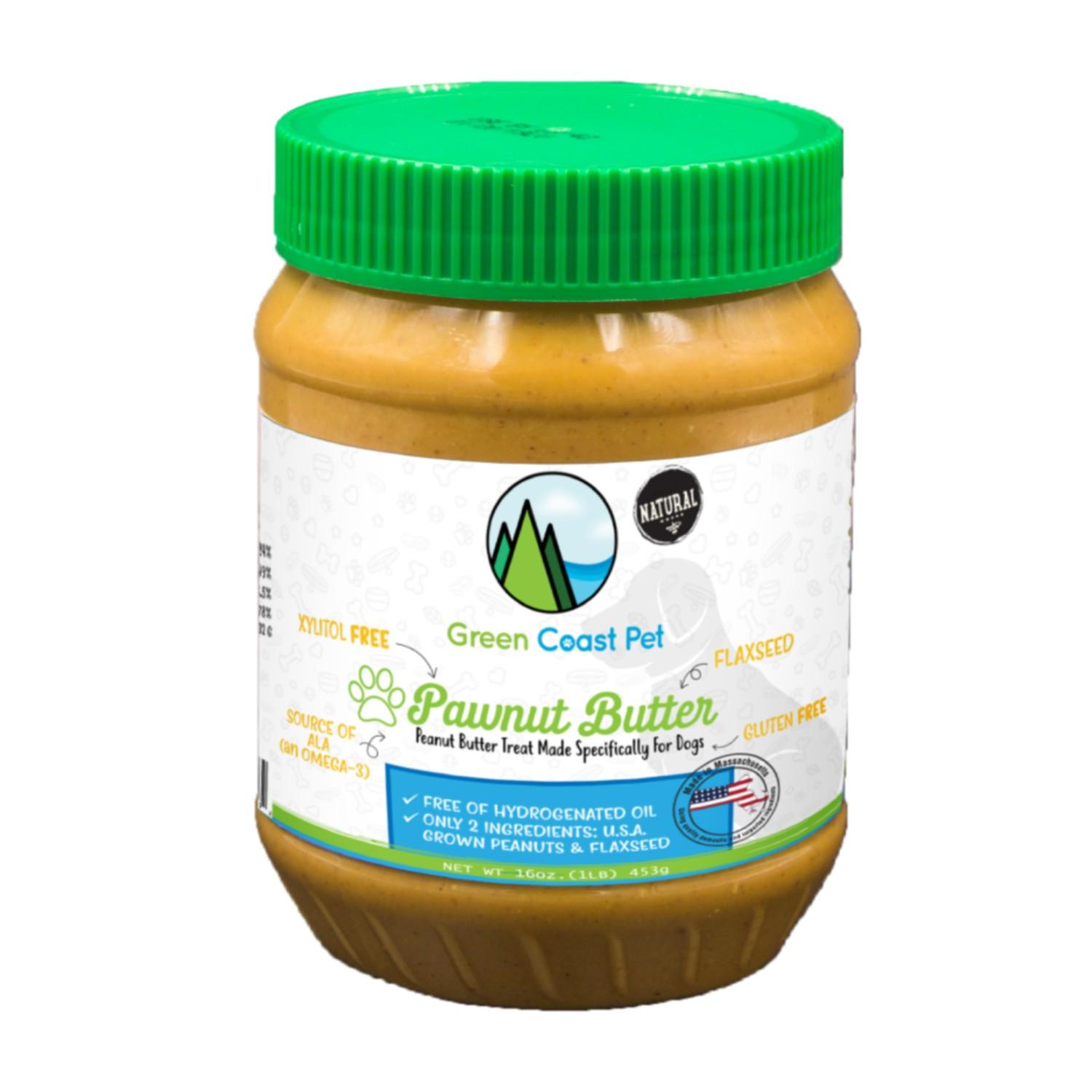 Green Coast Pet Pawnut Butter Dog Treat with Flaxseed
