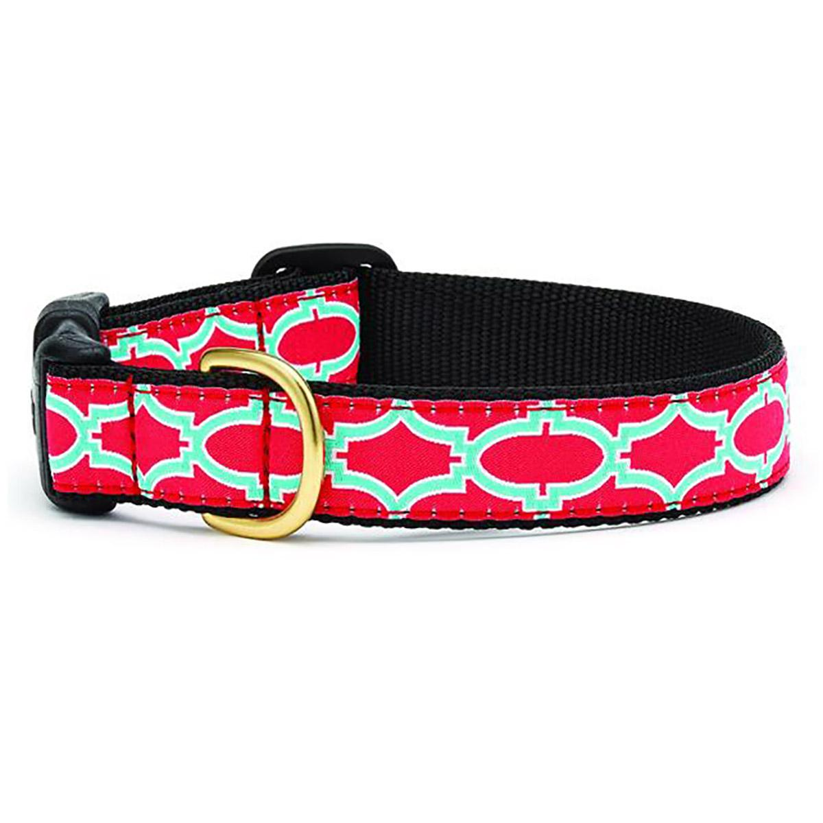 Pink Fretwork Dog Collar by Up Country
