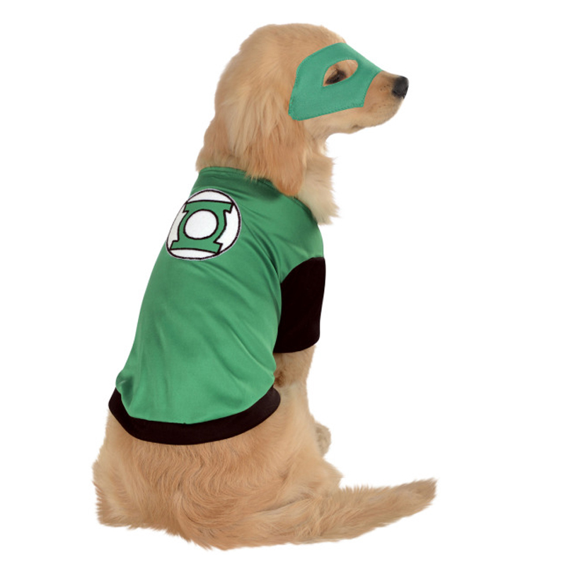 DC Green Lantern Dog Costume